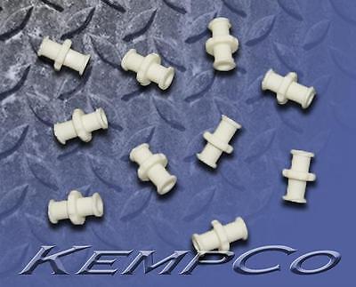 Female Luer Lock ((10) Female to Female Luer Lock Coupler Fittings - White Nylon - Medical Biomed )