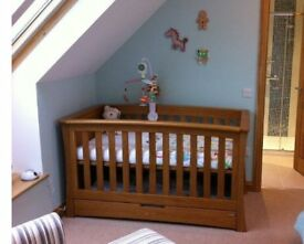 Mamas and Papas Solid Golden Oak Cotbed (from their Ocean nursery furniture range)