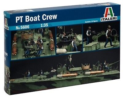 Italeri 1:35 Elco 80' PT Boat Crew Plastic Figure Set 5606 ITA5606