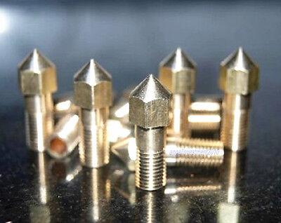 New Reprap 3d Printer Extruder 0.3mm Brass Nozzle Hot End Makerbot Mendel