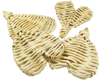 6 Large Vine Hearts Bird Parrot Toy Part craft parrot cage toys natural chewy