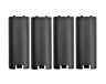 4X ORIGINAL BLACK BATTERY COVER LID REPLACEMENT NINTENDO WII U REMOTE CONTROL