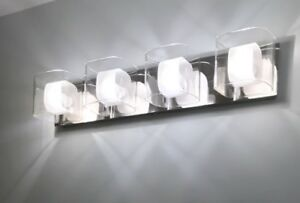 Chrome Bathroom Vanity Light Fixture