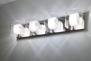 Chrome Bathroom Vanity Light Fixture