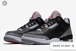 Air Jordan Black Cement 3 Size 9.5