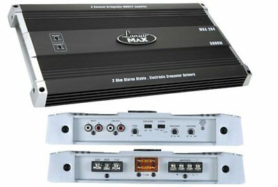 (Lanzar MXA284 5000 Watt 2 Channel Car Amp Sub Amplifier Power Amp Stereo MOSFET )