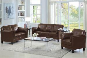 Brand new leather 3 pc sofa, loveseat, chair $1048 +FREE SETUP!!
