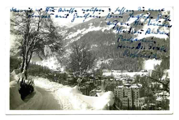 Ansichtskarte - Badgastein -  Bad Gastein -  Winter - 1937