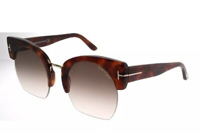f2abed532afe8 Tom Ford Savannah TF 552 F 53F Light Havana Women Sunglasses Brown Gradient  Lens