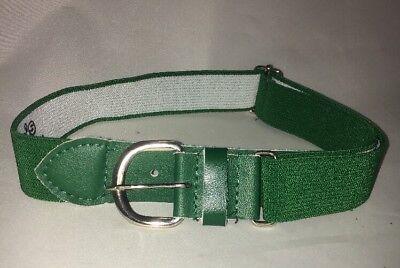 1ba08dbf970 Youth Green Elastic Adjustable Baseball Softball Belt Free Shipping