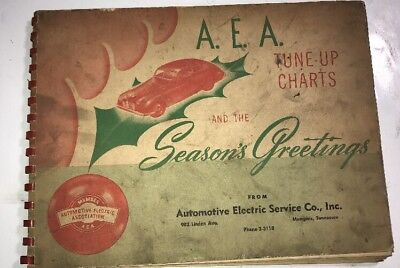 1947 Automotive Electrical Service Tune Up charts Memphis Tennessee Phone 2-3118
