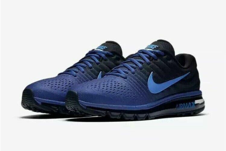 Nike Air Max 2017 Running Shoes Deep Royal Blue Cobalt 849559 401 Men's NEW