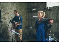 Upbeat Pop/Folk Duo available for Weddings and Functions.
