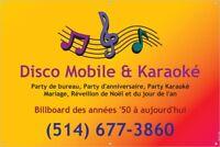 DJ ANIMATEUR CHATEAUGUAY & KARAOKÉ (SI DÉSIRÉ) AU MÊME TARIF