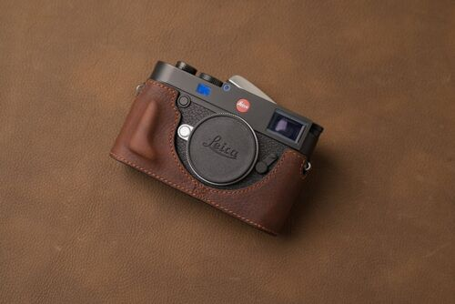 VR Handmade Genuine Leather Half Case for Leica M10 Dark Brown
