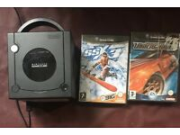 Nintendo GameCube with one pad memory card 2 games