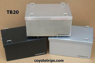 Motorcycle Aluminum Top Case, 20 liters, Lift Off Lid; BMW, KLR, Tiger, Tenere Aluminum Top Case