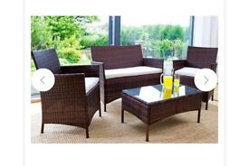 New Rattan Furniture Brown 4pcs Set