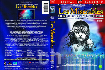 Les Miserables 10th Anniversary Concert - The Dream Cast by Victor Hugo  DVD NEW