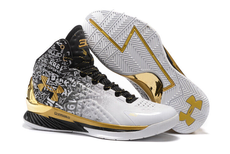 b883e075 Details about Hot Men's Under Armour Curry 1 TRAINING Basketball Shoes Boots  high top