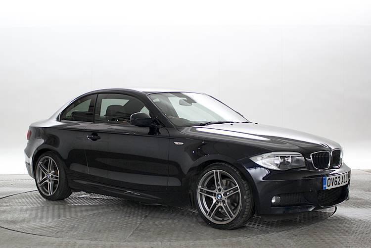 black bmw 2012. 2012 62 reg bmw 118d 20 sport plus edition carbon black coupe diesel automati bmw
