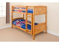SOLID PINE ANTIQUE BUNK BED BRAND NEW SPLITS INTO TWO BEDS