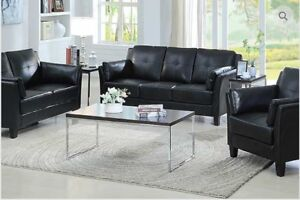 Brand new leather 3 pc sofa, loveseat, chair $1048 +FREE SETUP!!