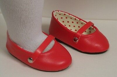 Red Ballet Flats For Girls (RED Ballet Ballerina Dance Flats Doll Shoes For 18