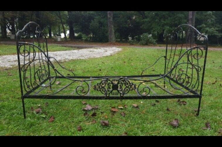 Antique French Campaign Bed Wrought-iron