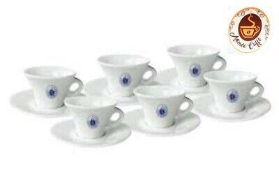 Set 6 Tazze Tazzine Caffè in Porcellana Caffè Borbone