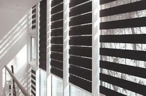Custom blinds, shutters, roller shades, zebra, roman shades,