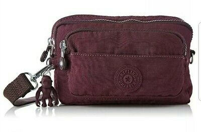 NEW Kipling Multiple convertible waist bum x body bag Dark plum Rrp£63