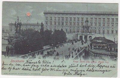 Sweden, Stockholm Hold to Light Early 1900 Postcard B717