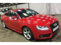 Red AUDI A5 COUPE 1.8 2.0 TDI Diesel SPORT S LINE FROM £45 PER WEEK!