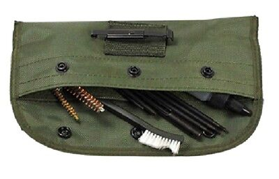 10 Piece .22 22LR .223 556 Rifle Gun Cleaning Kit Set Cleaning Rod Nylon Brush