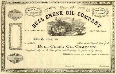 18__ Bull Creek Oil Stock Certificate