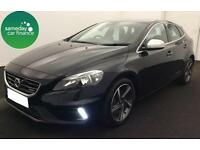 £262.43 PER MONTH 2014 BLACK VOLVO V40 2.0 D3 R-DESIGN 5 DOOR DIESEL MANUAL