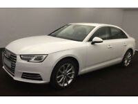 White AUDI A4 SALOON 1.4 1.6 TFSI Petrol SPORT FROM £67 PER WEEK!