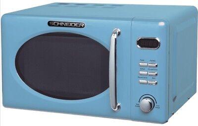 Mikrowelle RETRO Schneider MW720 LB blau 700Watt 20l nostalgie blue hellblau (Mikrowelle Blau)