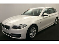 White BMW 520 2.0TD Touring Auto 2014 d SE FROM £77 PER WEEK!