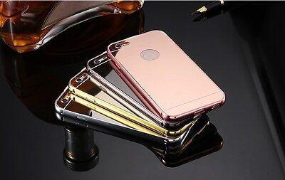 Aluminum Metal Bumper Hybrid Mirror Protector Case Cover- iPhone 6 6s 7 8 Plus (Aluminum Protector Case)
