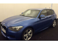 Blue BMW 120d M Sport 2.0 5 door Manual FROM £51 PER WEEK!