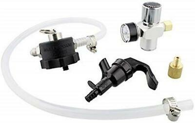 Mini Growler Dispenser CO2 Regulator for Draft Beer Keg w 2 Ft Hose -
