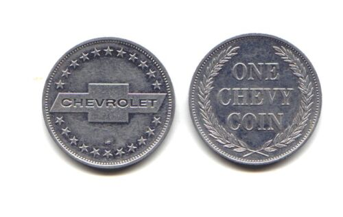 QTY 25 Vintage Chevrolet One Chevy Coin Token Advertising Promotion 1960