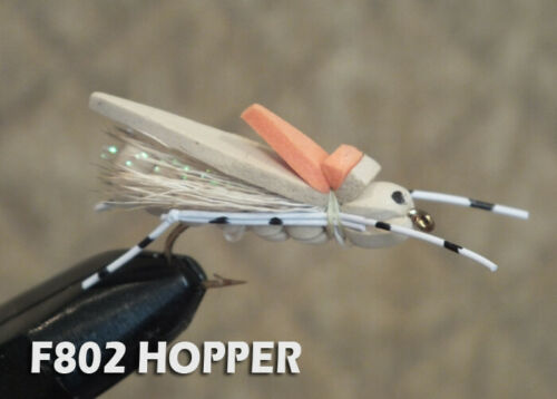 Foam Hopper 1 Dozen Trout Panfish Bass Terrestrial Fly Hoppers F802