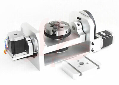 New Cnc Router Machine Rotary Indexer Table 4th 5th Rotational Axis W Chuck