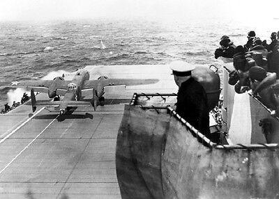 B-25B Mitchell Bomber USS Hornet Doolittle Raid 5x7 WW2 World War II Photo 700