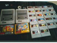 Super Nintendo with 24 games