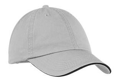 Port & Company - Washed Twill Sandwich Bill Cap.  (Company Sandwich Bill Cap)