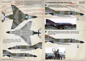 Print Scale 1/72 McDonnell F-4 PHANTOM II of the RAF & FAA # 72188